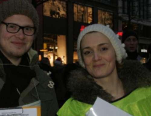 IGFM-Mahnwache für Religionsfreiheit in Hamburg