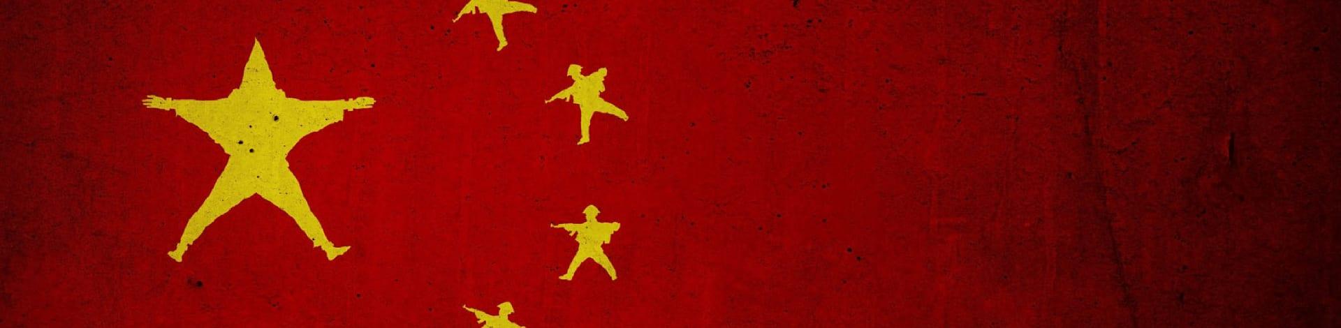 Die Volksrepublik China verletzt die Meinungsfreiheit in Hongkong.