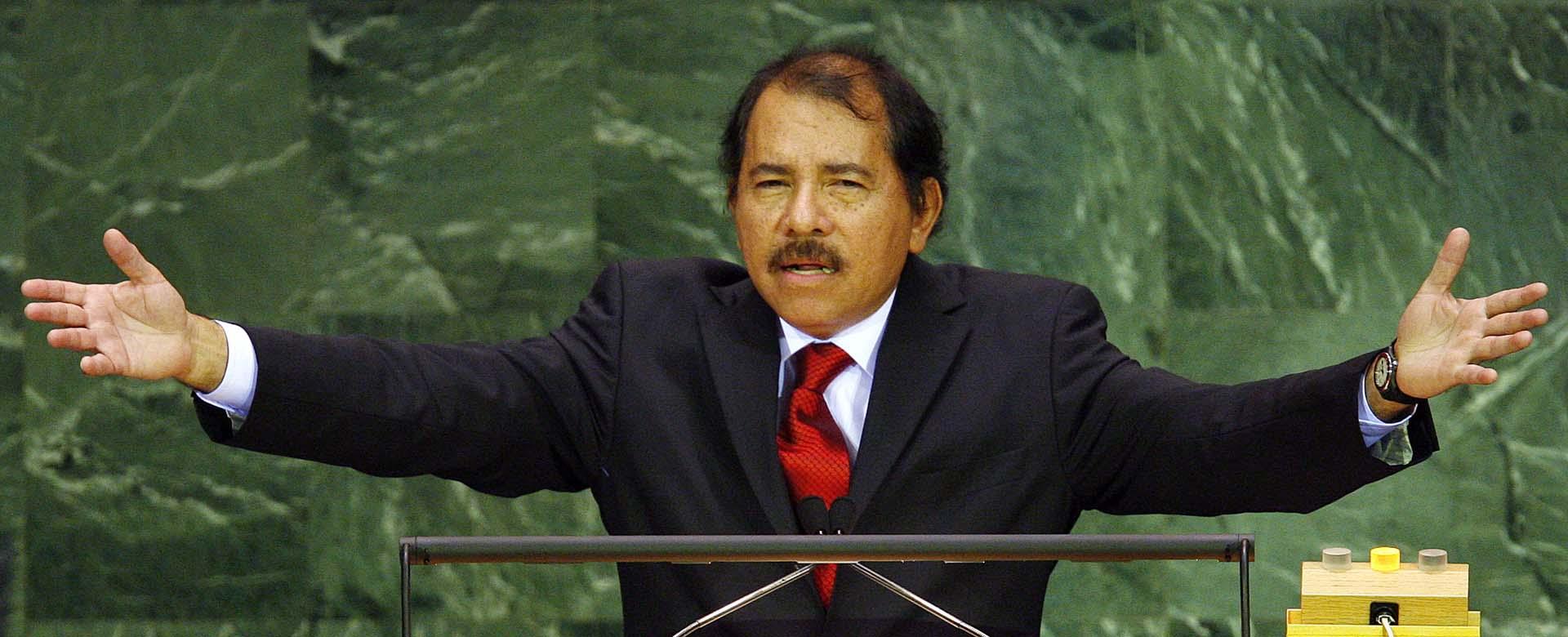 Der Präsident von Nicaragua Daniel Ortega vor der UN. In NIcaragua kommt es wiederholt zu Gewalt gegen Demonstranten.
