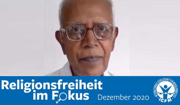 Der 83-jährige katholische Priester aus Indien, Stan Lourdusamy, bekannt als Pater Stan Swamy, sitzt seit dem 8. Oktober 2020 aufgrund von konstruierten Vorwürfen im Gefängnis.