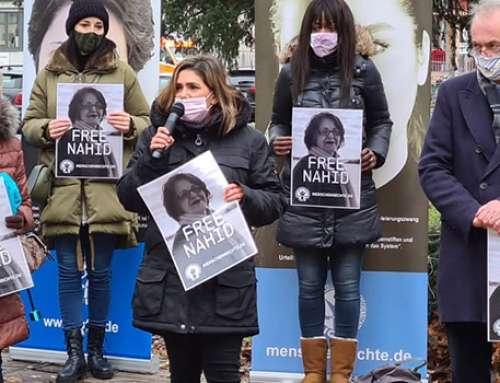 Mahnwache in Köln für Nahid Taghavi