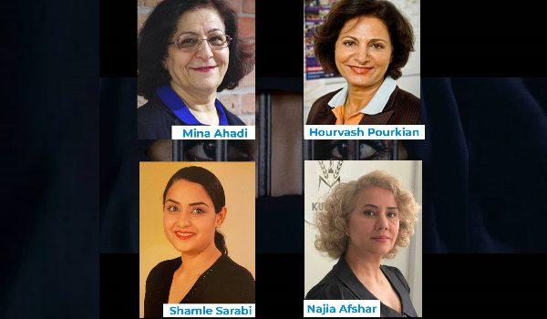 Mina Ahadi, Hourvash Pourkian, Shamle Sarabi, Najia Afshar